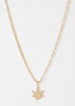 Gold Weed Print Chain