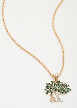 Gold Money Tree Chain Necklace