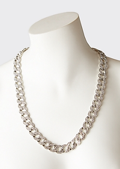 2-Pack Silver Chain Link Set