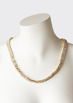 Gold Gem Chain Necklace