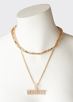 Gold Gem Henny Layered Necklace