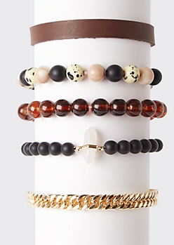 5-Pack Quartz Bracelet Set