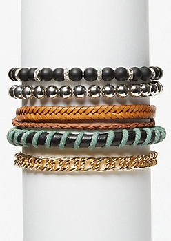5-Pack Hemp Braided Bracelet Set