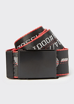 Black No-Cap Seatbelt Belt