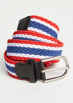 Americana Striped Stretch Web Belt
