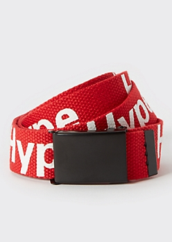 Red Hype Utility Buckle Belt