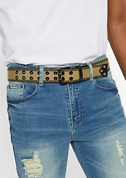 Green Two Tone Web Belt
