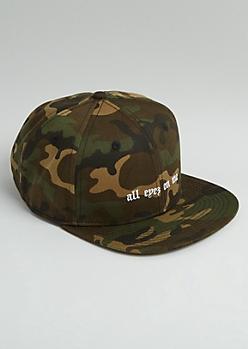 Camo Tupac All Eyez On Me Snapback Hat
