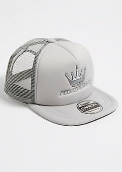 Silver Hustle Trucker Hat