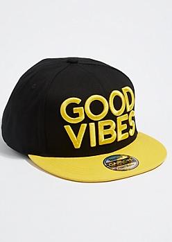 Gold Good Vibes Snapback Hat