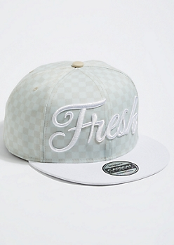 Mint Checkered Fresh Snapback Hat