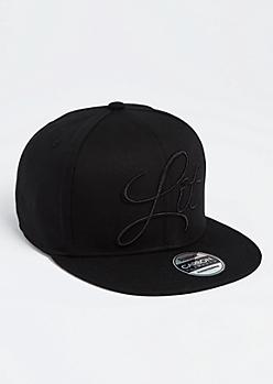 Black Lit Snapback Hat