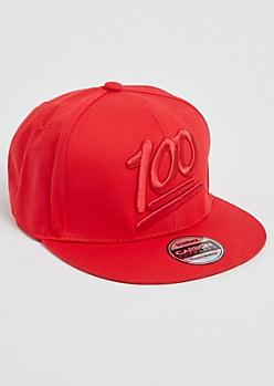 Red 100 Percent Snapback Hat