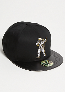 Black Astronaut Dab Embroidered Snapback Hat