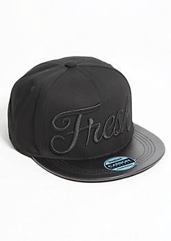 Black Fresh Snapback Hat