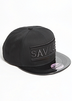 Savage Black-On-Black Snapback