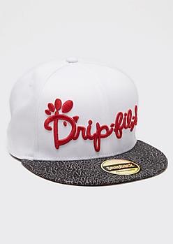 White Drip-Fil-A Snapback Hat