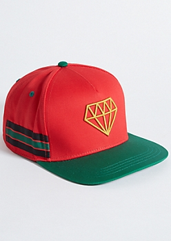Red Diamond Varsity Striped Snapback Hat