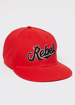 Red Rebel Embroidered Hat