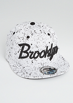 Brooklyn Paint Splattered Snapback