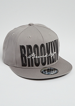 Gray Brooklyn Stitched Snapback