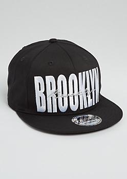 Gold Cursive Brooklyn Snapback Hat