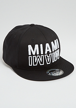 White Miami Flipped Snapback