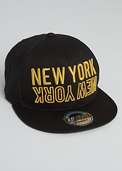 Gold New York Snapback Hat