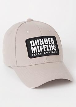 Gray Dunder Mifflin Snapback Hat