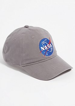 Gray NASA Logo Dad Hat