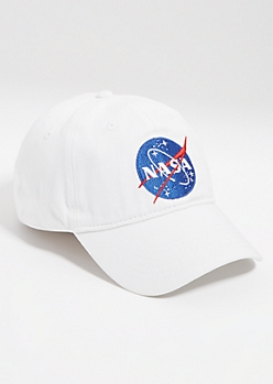 White NASA Logo Dad Hat