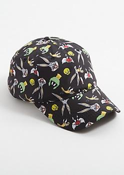 Black Slick Looney Tunes Dad Hat