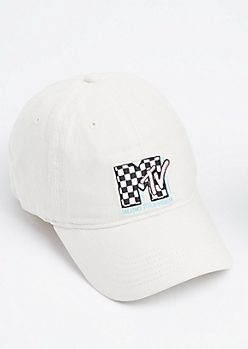 Ivory MTV Logo Dad Hat