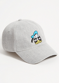 Gray Donald Duck Nope Tweed Dad Hat