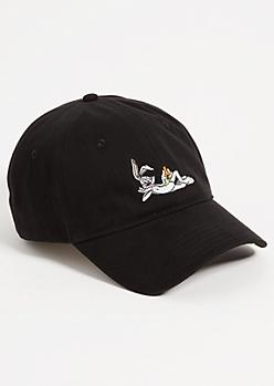 Black Bugs Bunny Twill Dad Hat