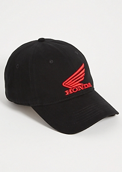 Black Honda Twill Dad Hat