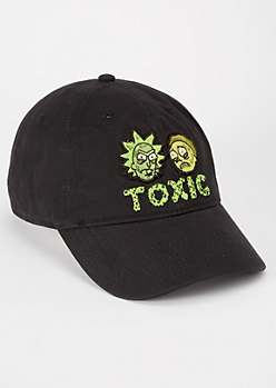 Black Embroidered Rick and Morty Dad Hat
