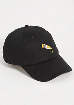 Black 40 Oz Twill Dad Hat