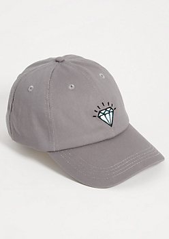 Gray Diamond Twill Dad Hat