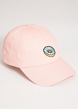 Pink Donut Twill Dad Hat