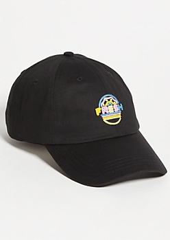 a9d1164edbaca Black Fresh Donut Twill Dad Hat