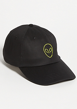 Black Neon Alien Twill Dad Hat
