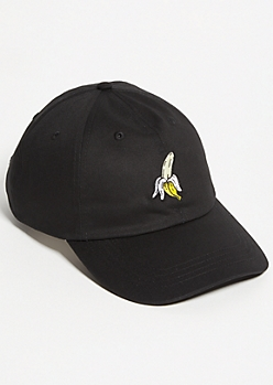 Black Banana Embroidered Twill Dad Hat