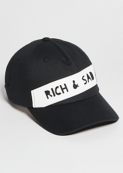 Black Rich Sad Patch Twill Dad Hat