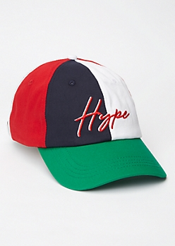 Colorblock Hype Embroidered Dad Hat