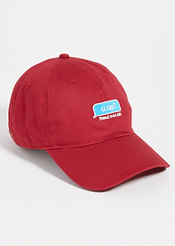 Burgundy WYD Text Dad Hat