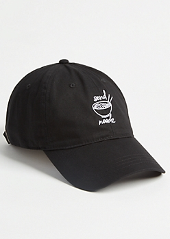Black Send Noodz Twill Dad Hat
