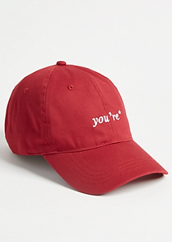 9b30f61c5 Red You're Twill Dad Hat