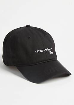 Black Thats What She Twill Dad Hat