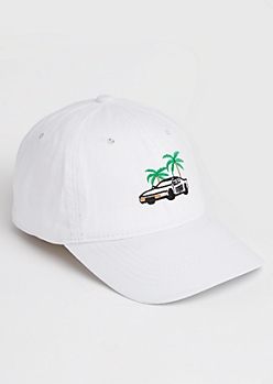 Palm Tree Car Dad Hat